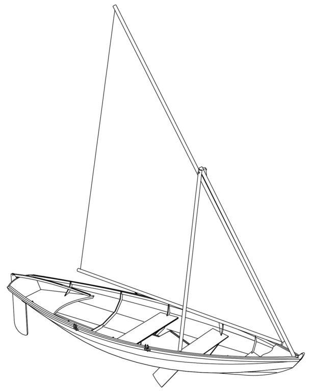 парусно гребная лодка