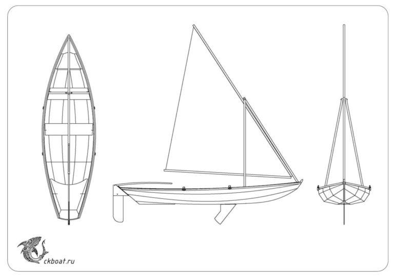 парусно-гребная лодка